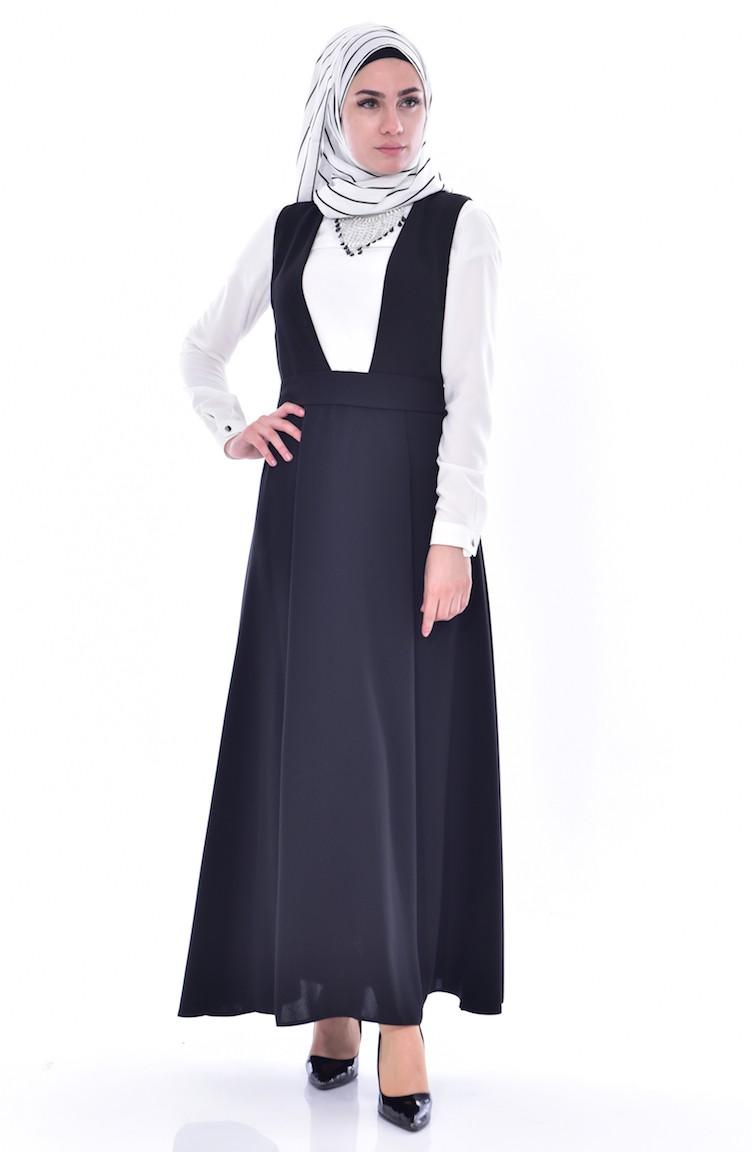 8e288bfc54249 Gömlekli Jile Elbise 0745-06 Siyah