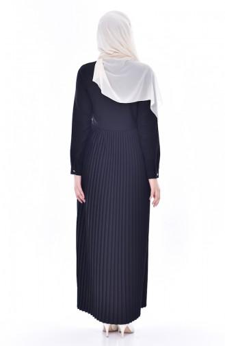فستان بتصميم بطيات  0879-03