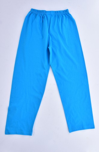 Patterned Women´s Pajamas Suit1020-02 Turquoise 1020-02
