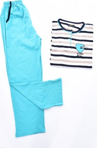 Ensemble Pyjama Pour Femme 0500-03 Vert 0500-03