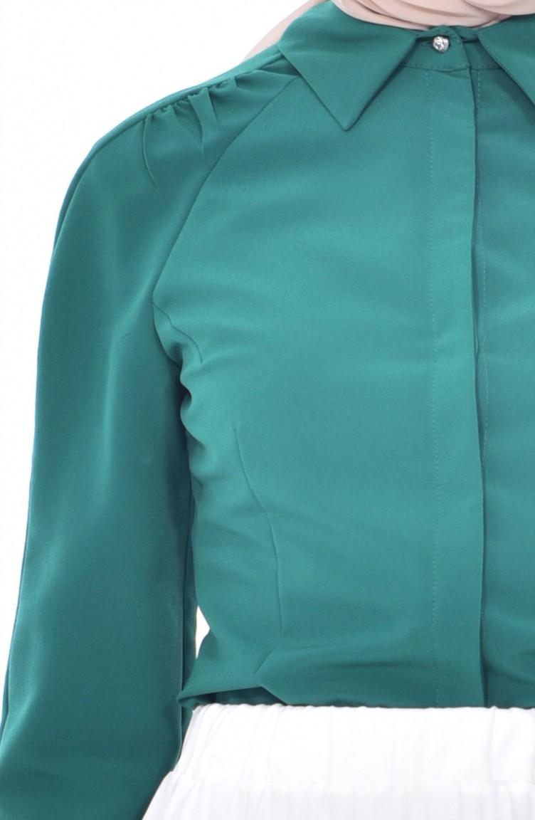 buy popular 201ca 59748 Hemd mit versteckten Knöpfen 1521348-900 Smaragdgrün 1521348-900