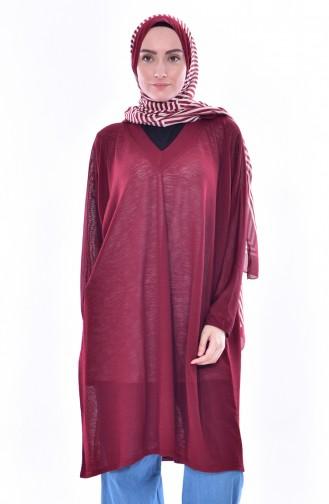 Tunique Manches Chauve Souris 40014-01 Bordeaux 40014-01