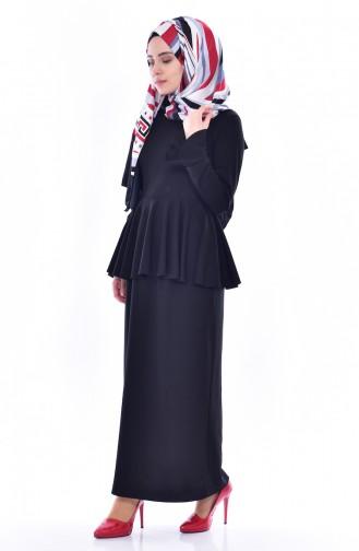 Blouse Skirt Binary Suit 2075-04 Black 2075-04