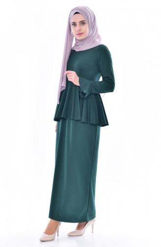Blouse Skirt Binary Suit 2075-05 Emerald Green 2075-05