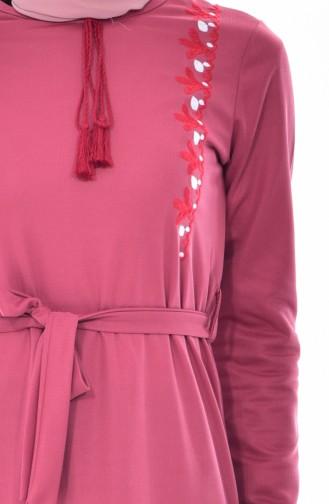 Robe Bordée 3850-01 Rose Pâle 3850-01