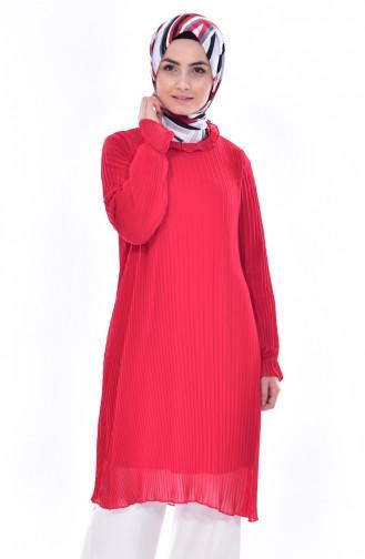 Piliseli Tunik 1106-05 Kırmızı 1106-05