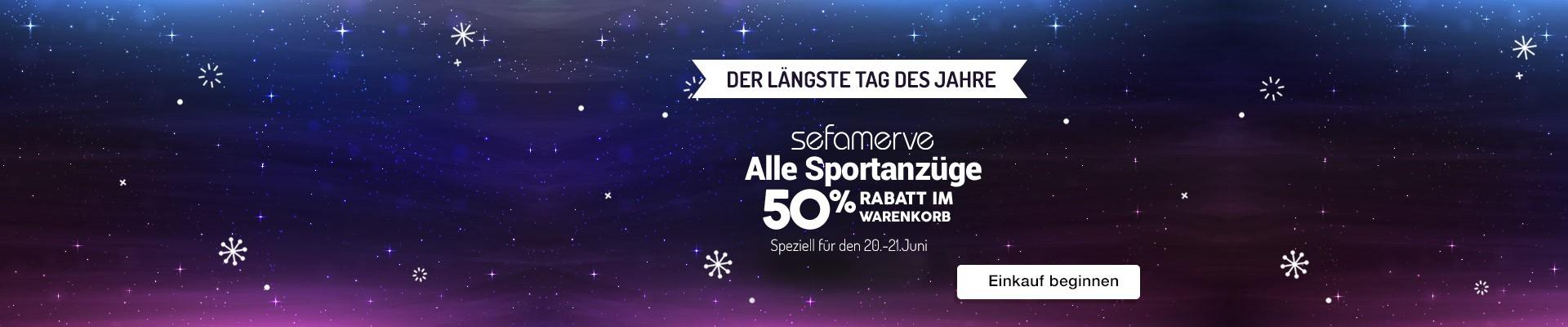 lle Sefamerve Sportanzüge 50% Hälfte des Warenkorbes
