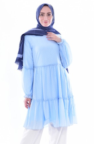 Gerafte Tunika 1121-04 Ice Blau 1121-04