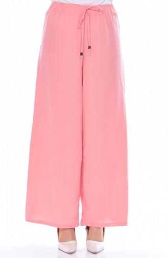 Pantalon Lâche a Lacets 2591-09 Rose Pâle 2591-09