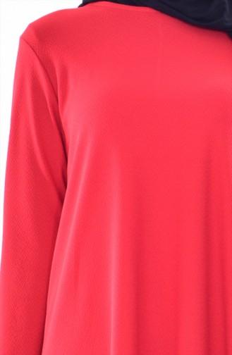 Ensemble Deux Pieces Tunique Pantalon Rayure 3848-02 Rouge 3848-02