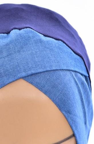 بونيه جينز بتصميم مُتقاطع-01 لون كُحلي جينز 01
