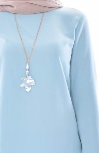 Tunika und Hose mit Halskette 2er Set 9108-02 Minzengrün 9108-02