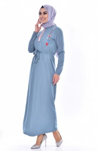 Kleid mit Stickerei 3849-06 Minzengrün 3849-06