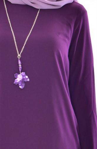 Tunika und Hose mit Halskette 2er Set 9108-04 Lila 9108-04