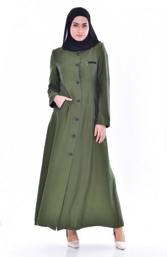 Hijab Mantel mit Kapuzen 0601-05 Grün 0601-05