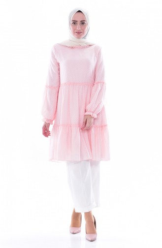 Gerafte Tunika 1121-01 Pink 1121-01