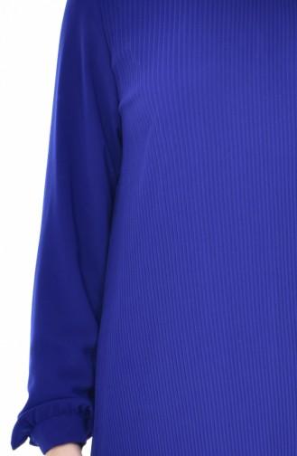 Tunique Plissée 1221-05 Bleu Roi 1221-05