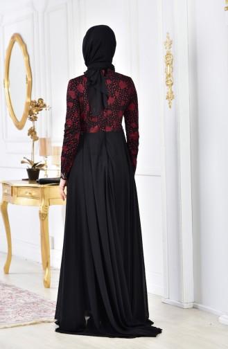Robe de Soirée Perlées 8105A-03 Bordeaux 8105A-03