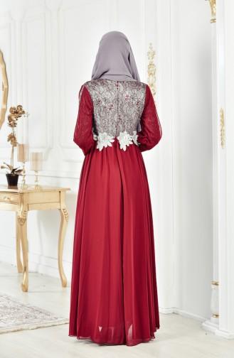 Robe de Soirée a Paillette 8143-01 Bordeaux 8143-01