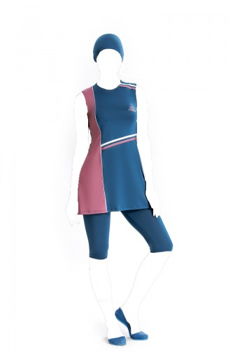 Blue Swimsuit Hijab 810429-01