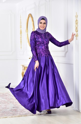 Habillé Hijab Pourpre 0517-01
