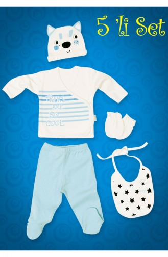 Blue Baby Bodysuit Set 5023