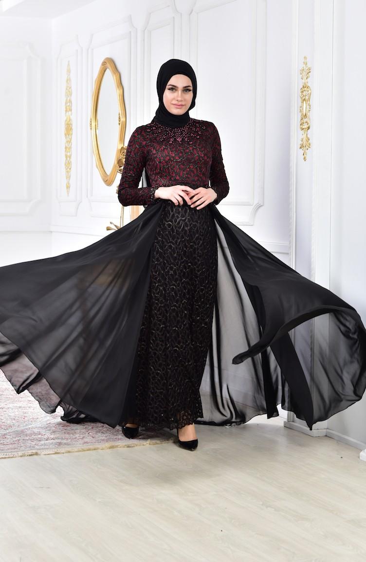 76f54ea6c762e Pearls Evening Dress 8105-02 Bordeaux 8105-02