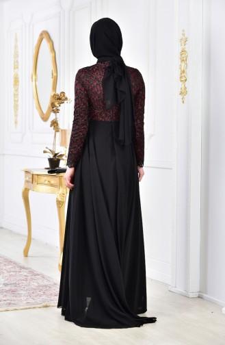Pearls Evening Dress 8105-02 Bordeaux 8105-02