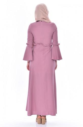 Robe Hijab Rose Pâle 8035-04