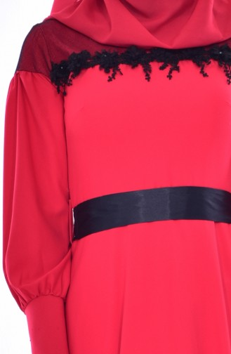فستان لون أحمر 2683-01
