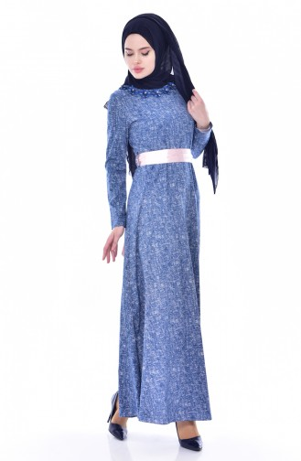 Robe a Ceinture 2741-01 İndigo 2741-01