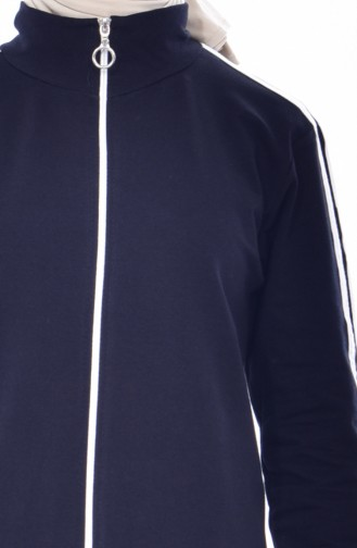 Zippered Tracksuit Suit 18085-02 Navy 18085-02