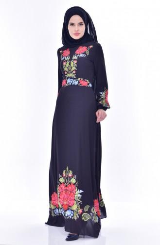 فستان لون كحلي داكن  2602-01