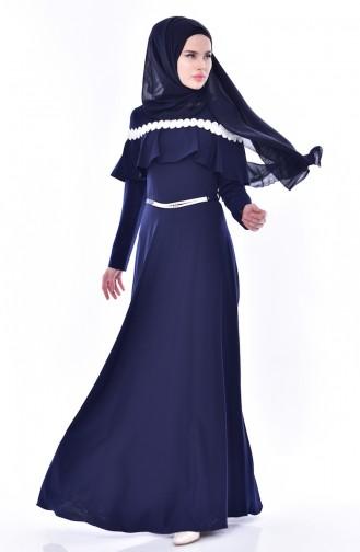 Robe a Ceinture 2721-04 Bleu Marine 2721-04