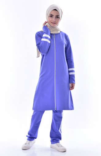 Zippered Tracksuit Suit 18050-23 Lilac 18050-23