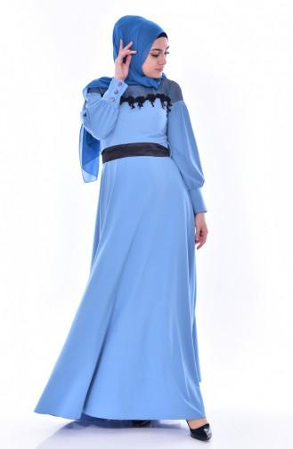 Robe a Dentelle 2683-03 Bleu 2683-03