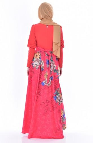 Kleid mit Stickerei 2597-02 Granatapfel Blumen 2597-02