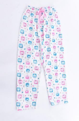 Kadın Alt Pijama ZY0153-01 Krem Pembe 0153-01