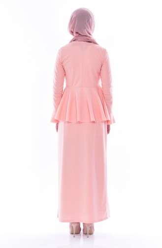Blouse Skirt Binary Suit 2075-09 Salmon 2075-09