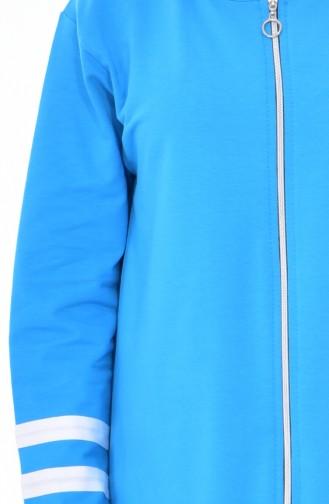 بدلة رياضية بتصميم سحاب 18050-22 لون تركواز 18050-22