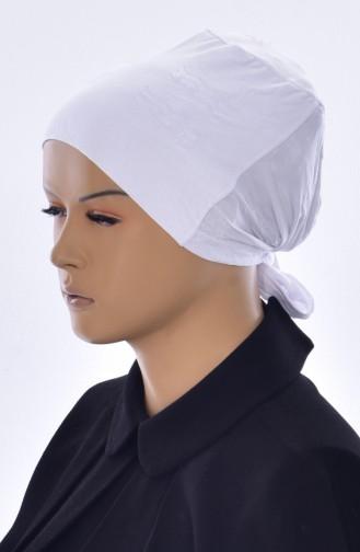 Sefamerve Eşarp Şal Kaydırmayan Silikonlu Bone 100-01 Beyaz