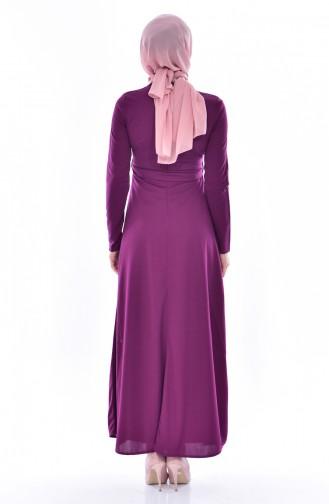 فستان ارجواني داكن 0552-01