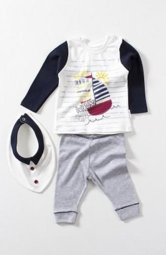 بدل الأطفال وحديثي الولادة أزرق كحلي 3035-02