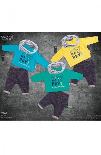 3 اطقم اطفال بتصميم مميز WG7263-01 لون ازرق 7263-01