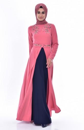 Robe Bordée 3288-05 Rose Pâle 3288-05