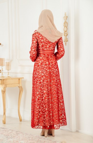 Lace Evening Dress 2350-01 Red 2350-01