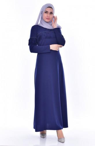 Perlen Kleid mit Fransen 4459-04 Dunkelblau 4459-04