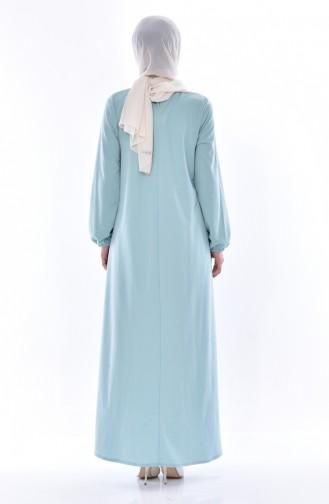 Buttoned Dress 8034-11 Light Mint Green 8034-11