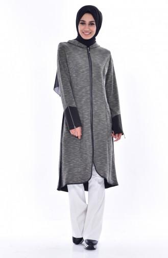 Hooded Zipper Cap   6015-04 Khaki 6015-04