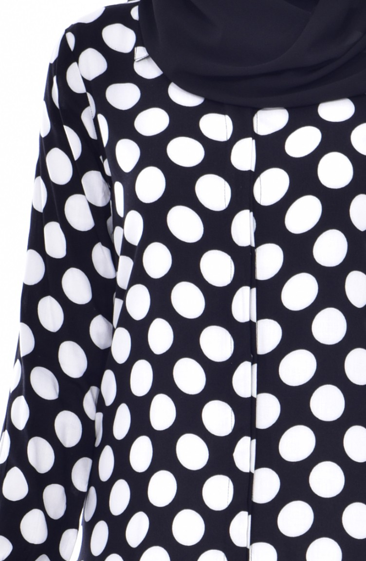 2e0c2c4cf9a Polka Dot Tunic 0784-01 Black White 0784-01